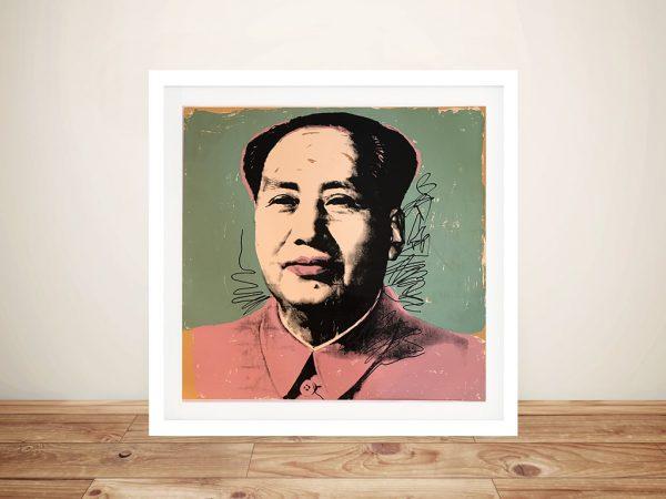 Andy Warhol Mao Framed Wall Art Sydney
