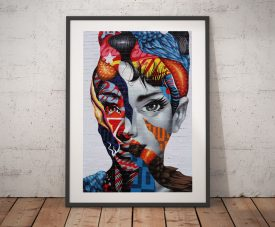 Audrey Hepburn Graffiti Wall Art Prints