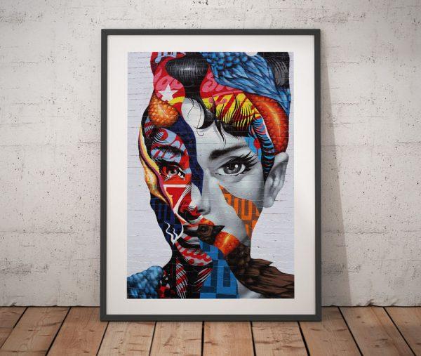 Audrey Hepburn Graffiti Wall Art Prints