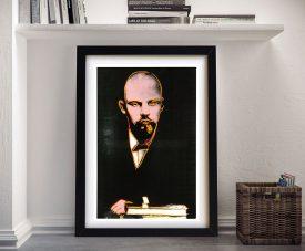 Andy Warhol Black Lenin Pop Art Framed Print