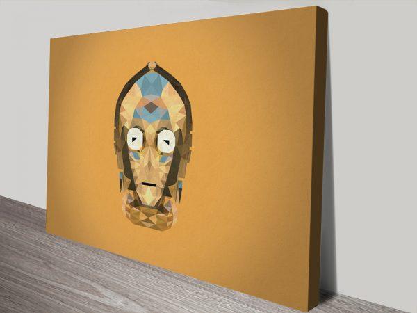 C-3PO Star Wars Framed Wall Art Print Decoration