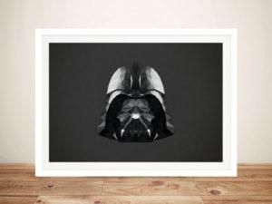 Darth Vader Head Art Framed Wall Art Prints