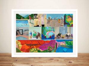 David Hockney Montage Framed Wall Art Melbourne