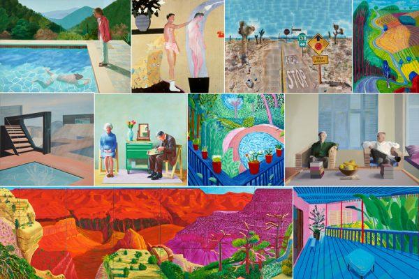 David Hockney Collage Canvas Art Australia