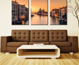 Dawn on Venice Triptych Wall Art 3 Pieces Prints