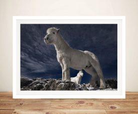 Fjord Horses Framed Wall Art