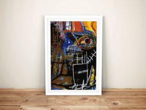 Head Jean Michel Basquiat Framed Wall Art Picture