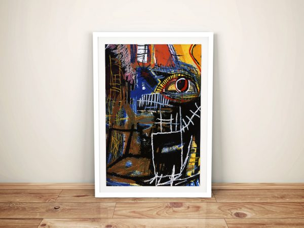 Head Jean Michel Basquiat Framed Wall Art Picture