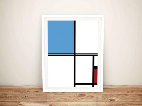 Mondrian Framed Wall Art Melbourne