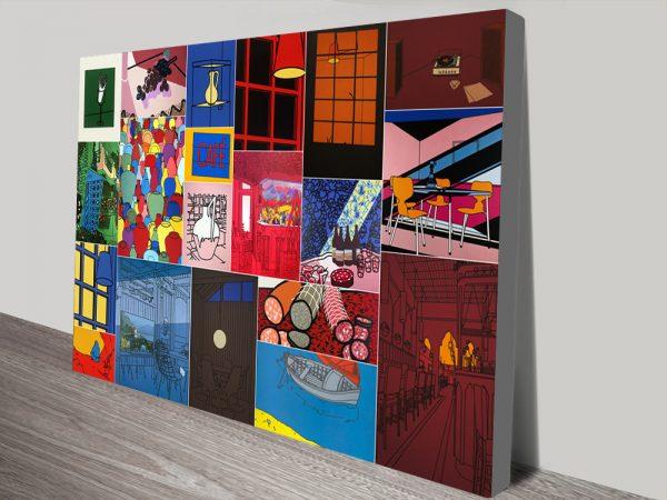 Patrick Caulfield Collage Art Print