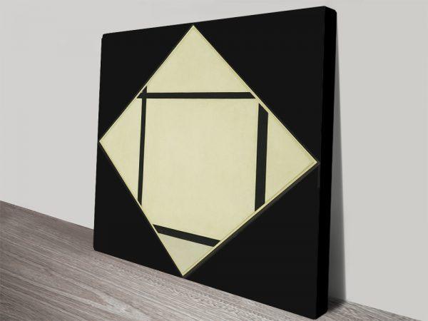 Piet Mondrian Tableau I Lozenge Abstract Canvas Print