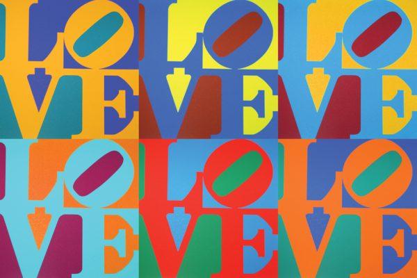 Robert Indiana Love Pop Art Canvas Print