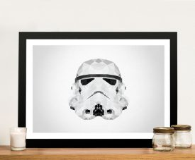 Storm Trooper Head Geometric Art Framed Wall Art