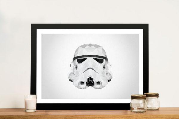 Storm Trooper Head Geometric Art Framed Wall Art