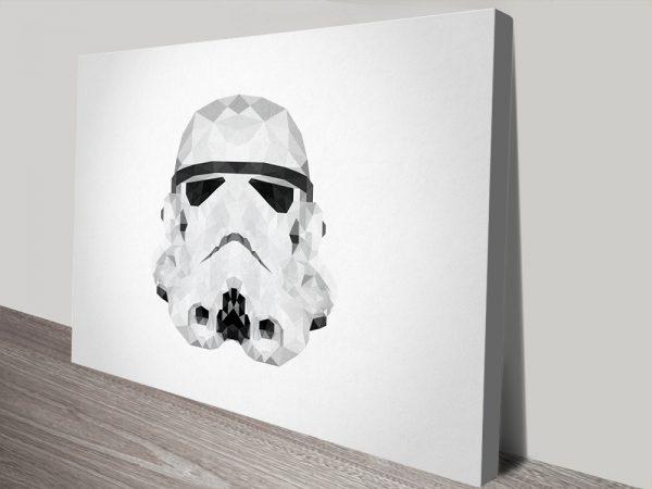 Stormtrooper Helmet Geometric Wall Art Picture