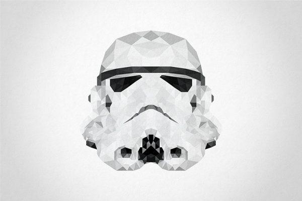 Storm Trooper Head Geometric Art Australia