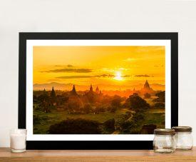 Tung Pagoda in Myanmar Framed Wall Art