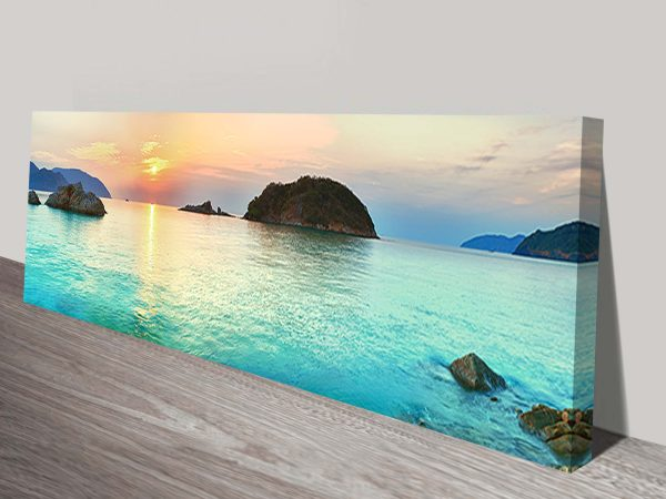 Turquoise Islands Panoramic Paradise Canvas Art Prints