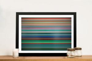 Gerhard Richter Stripes Colourful Picture Art
