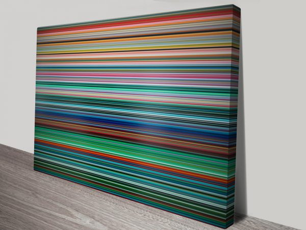 Gerhard Richter Stripes Colourful Picture Print on Canvas