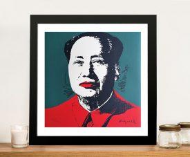 Mao by Andy Warhol Pop Art Print on Canvas Decor