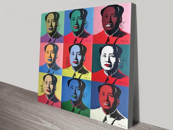 Nine Mao's by Andy Warhol Pop Art Canvas Print