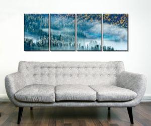 Magic Bay Four Panel Captured on Canvas Prints