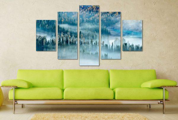 Magic Bay Five Panel Canvas Printing