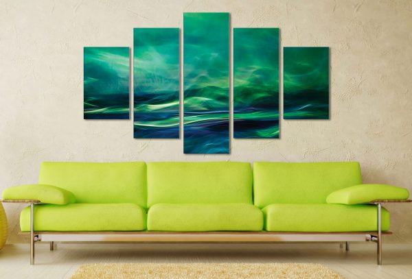 Northern Lights 5 Piece Artwork Canvas Art Online