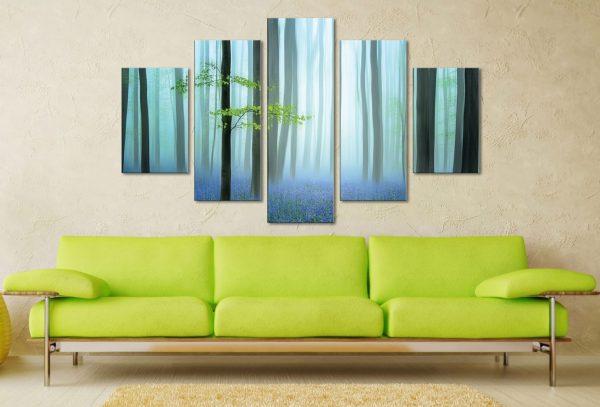 The Blue Forest 5 Piece Artwork Canvas Wall Art Online