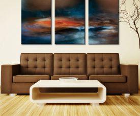 Fantasy Lake Three Piece Artwork Canvas Art Prints