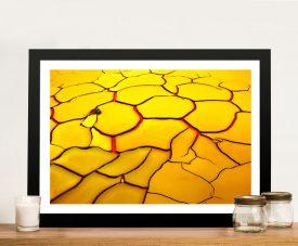 Abstract Landscape Desert Cracks Canvas Pictures