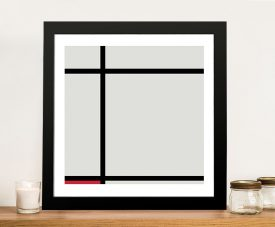 Piet Mondrian Composition with Red Fine Art Painting Print Online