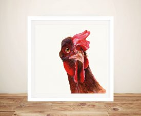 Holly The Chicken by Patsy Ducklow Painting Print on Canvas