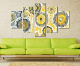 Abstract Circles Crop 5 Piece Artwork Buy Canvas Art Online