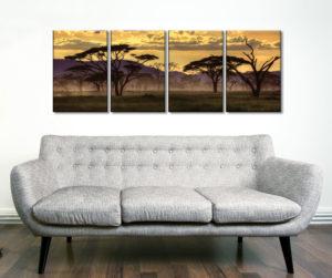Good Evening Tanzania Four Piece Artwork Canvas Prints