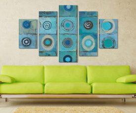 Underwater Mosaic Crop Five Piece Artwork Gift Ideas