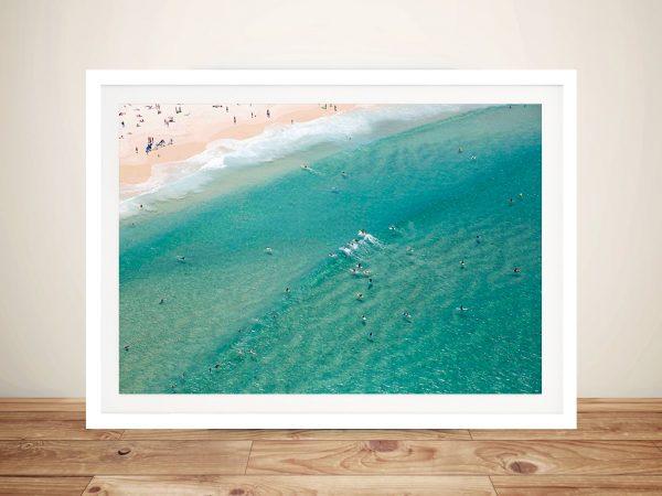 Bondi Beach Aerial Framed Wall Art Pictures Au
