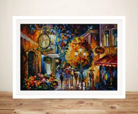 Cafe in the Old City Leonid Afremov Framed Wall Art Picture