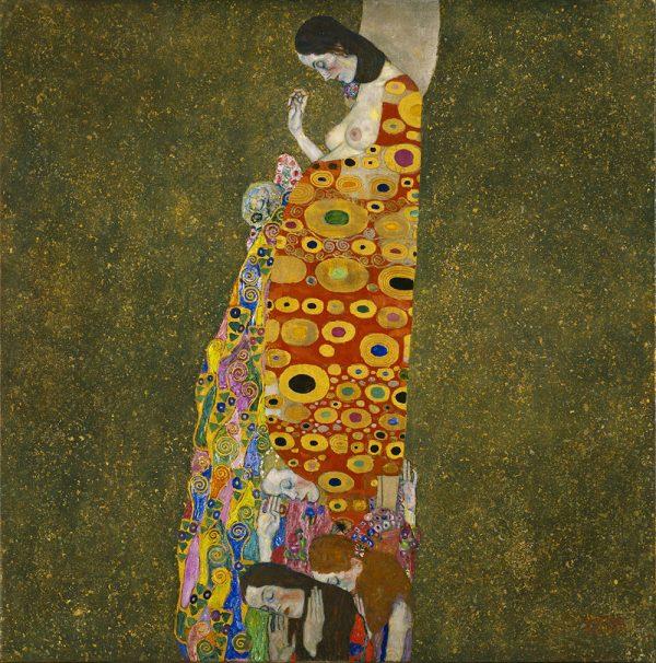 Hope II by Gustav Klimt Canvas Wall Art Print Australia