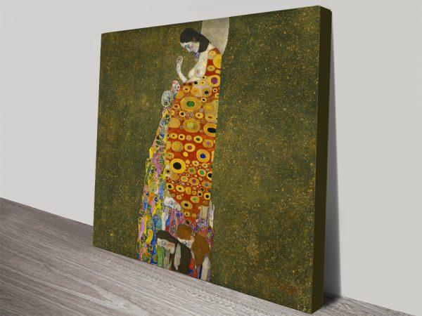 Hope II by Gustav Klimt Canvas Artwork Home Decor