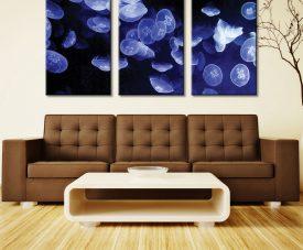Jellyfish Triptych Three Panel Photos On Canvas
