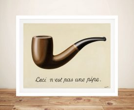 Treachery of Images by René Magritte Wall Art Print