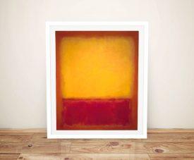 Framed Yellow over Purple Mark Rothko Art