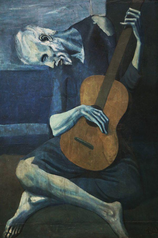 Old Guitarist Chicago Pablo Picasso Painting Print Australia