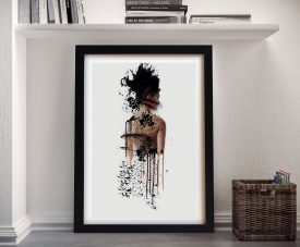 Buy Painted Woman Framed Canvas Wall Art