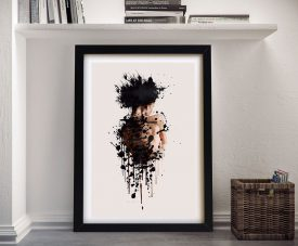 Buy a Striking Abstract Female Form Framed Print