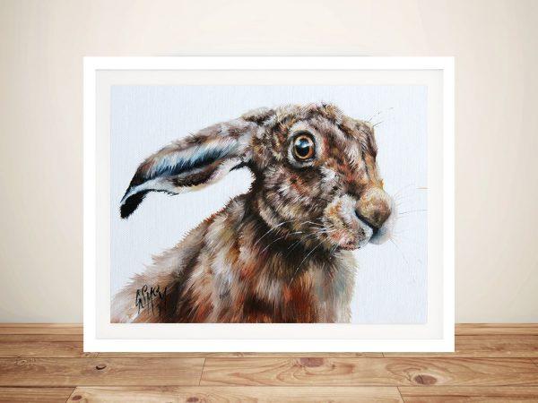 Rabbits Glare Watercolour | Canvas Printers Online
