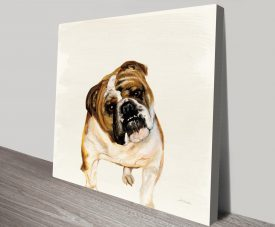 Fergi The Bulldog by Patsy Ducklow Canvas Printers