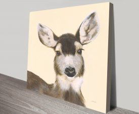 Woodland Critter White-tailed Deer by Patsy Ducklow Printing Wall Art